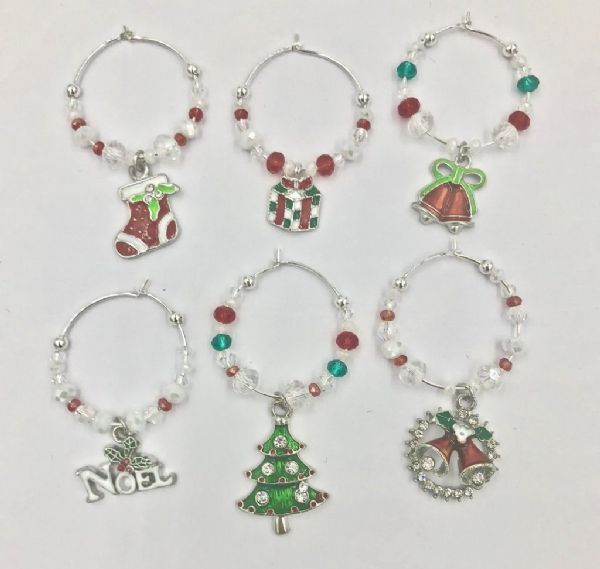 Sat 23rd Nov 10.30 -11.30- MAKE A SET OF 6 CHRISTMAS WINE GLASS CHARMS (1)